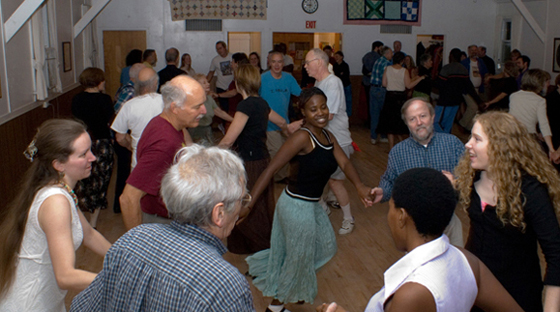 Dancers at a Contra Dance