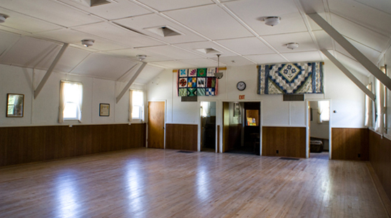 Pittsfield Grange dance floor