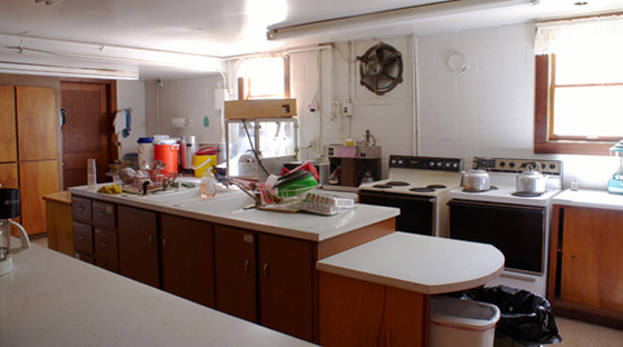 The kitchen at Pittsfield Grange