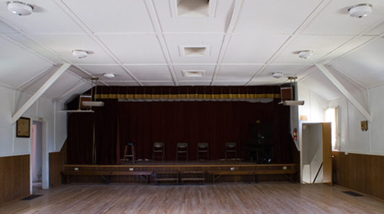 Pittsfield Grange dance floor stage